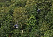 Cable Car In The Mountains. Rosa Khutor Alpine Resort. Krasnaya Royalty Free Stock Image