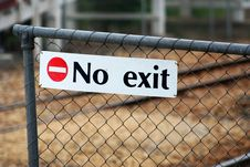 Free No Exit Stock Photo - 350060