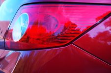 Free Side View Of Rear Lights Stock Photography - 351202