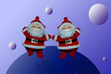 Free Santa Claus In The Space Stock Images - 352014