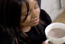 Free Hot Chocolate, Closed Eyes Stock Photos - 353813