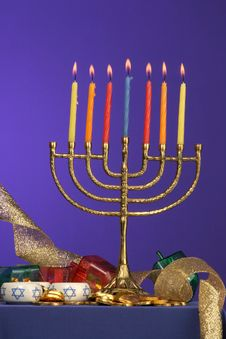 Menorah Series 7 Royalty Free Stock Photography