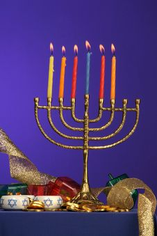 Menorah Series 6 Royalty Free Stock Photos