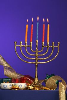 Menorah Series 5 Royalty Free Stock Images