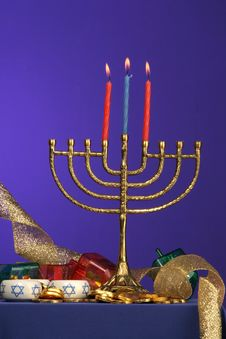 Free Menorah Series 3 Stock Image - 353961