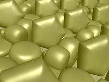 Free Abstract Golden Silk Royalty Free Stock Photography - 355007