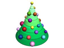 Free 3D-Christmas Tree Royalty Free Stock Photography - 355097