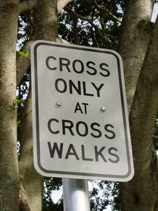 Free Cross Only Sign Stock Images - 355464