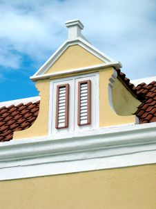 Caribbean Roof Top Royalty Free Stock Photo