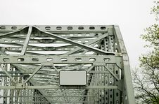 Free Steel Bridge With Blank Sign. Stock Photography - 358412