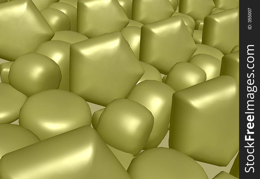 Abstract golden silk