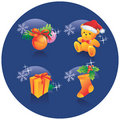Free Christmas Icon Set Decoration Royalty Free Stock Photography - 3500607