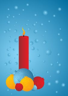 Candle And Balls Stock Photos