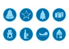 Free Blue Christmas Icons Royalty Free Stock Images - 3500009