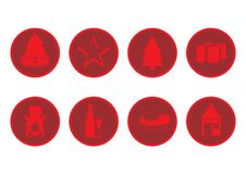 Free Red Christmas Icons Royalty Free Stock Image - 3500066
