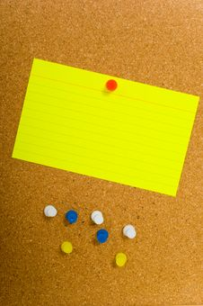Free Notecard On Corkboard Royalty Free Stock Photo - 3500685