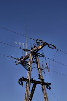 Free Electric Post And Blue Sky Stock Photo - 3500930