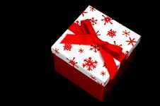 Free Red And White Gift Box Royalty Free Stock Images - 3500969
