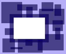 Free Blue Rectangle Frame Royalty Free Stock Photography - 3501477