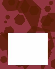 Free Red Pentagons Frame Royalty Free Stock Photo - 3501565