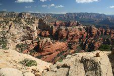 Fay Canyon From Bear Mountain Stock Photos