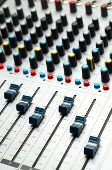 Free Sound Mixer. Selective Focus Stock Photo - 3502210
