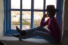 Free Gazing Out The Window Royalty Free Stock Photography - 3502477