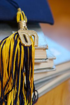 Free 2007 Graduation Cap, And Books Royalty Free Stock Photo - 3502665