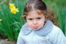 Free Beautiful Girl Yellow Flower Stock Photography - 3503272