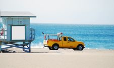 Lifeguard Truck And Stand Royalty Free Stock Image