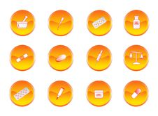 Chemistry Buttons Stock Images