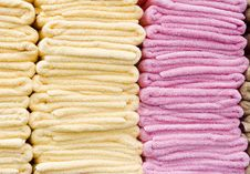 Yellow And Pink Towels Royalty Free Stock Images
