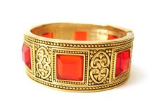 Free Golden Bracelet Isolated Royalty Free Stock Image - 3505146