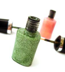 Free Green Nail Polish Or Lipstick Stock Photography - 3505242