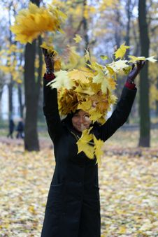 Free Young Woman And Autumn Stock Photos - 3505283