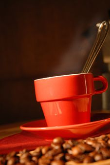 Free Smoking Cup Of Coffee Stock Photo - 3505720
