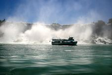 Free Tour Boat At Niagara Falls. Royalty Free Stock Images - 3506369