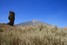Garcia Rock And Volcano Teide Stock Photography