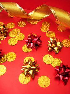Free Golden Celebratory Ribbon Royalty Free Stock Photography - 3506627