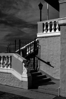 Stairs, Veranda, And Sky Stock Image