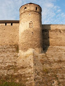 Wall And Tower Of Fortress Kam Royalty Free Stock Photos