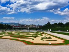 Free Belvedere Palace In Vienna Stock Image - 3507291
