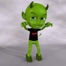 Free Little Green Devil Royalty Free Stock Photo - 3507915