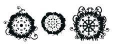 Free Grunge Snowflakes Royalty Free Stock Photo - 3508585