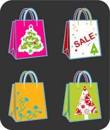 Free Christmas Bags Royalty Free Stock Image - 3508786