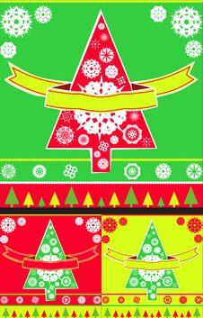 Free Christmas Tree Card Royalty Free Stock Photography - 3508877