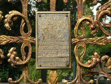 Free Decorated Gravestone Stock Image - 3509041