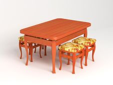 Table With Stools Stock Images