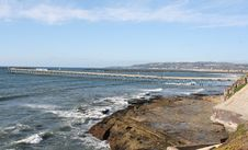 Free OB Pier And Tide Pool Overlook Royalty Free Stock Photography - 3509747