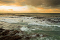 Free Seascape And Wave At Dawn Stock Photo - 35006790